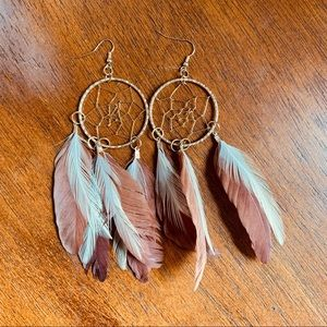 ✨5/ $20!✨NEW bohemian style dream catcher earrings